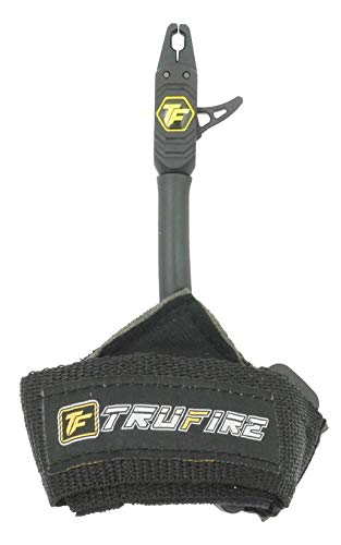 TruFire Patriot Archery Compound Bow Release - Adjustable Black Wrist Strap (Best Bow Release For Hunting)