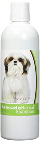 Healthy Breeds Herbal Avocado Dog Shampoo for Dry Itchy Skin for Shih Tzu  - OVER 200 BREEDS - For Dogs with Allergies or Sensitive Skin - 16 oz