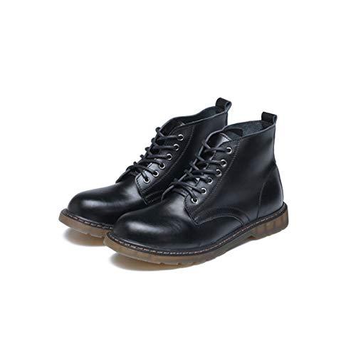 Lianaiec Herrenstiefel Warme Hohe Hilfe des Paarwinters Erhöht Schwarze Schuhe Und Baumwolle Retro