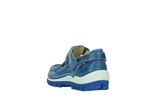 Blau Blue femme Move Wolky Kobalt pour 381 Mocassins Leder w7f0qO