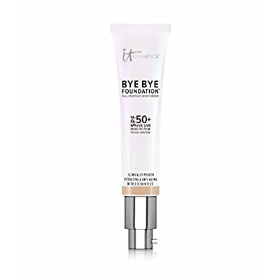 IT COSMETICS Bye Bye Foundation SPF 50+ Full Coverage Moisturizer (Tan) 1.08 oz by It Cosmetics