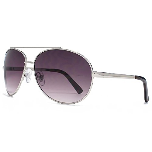 Glare Eyewear Maui lunettes de soleil aviateur en argent RHS90 Gradient Grey