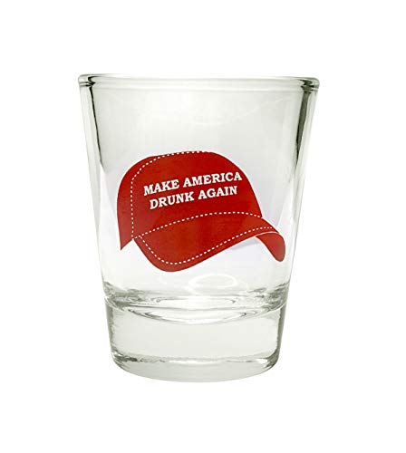 Anti Trump Shot Glass - Make America DRUNK Again | Anti Trump Gifts | Funny Shot Glasses