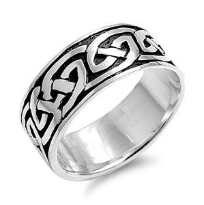 Cute Jewelry Gift for Women in Gift Box Celtic Glitzs Jewels 925 Sterling Silver Ring