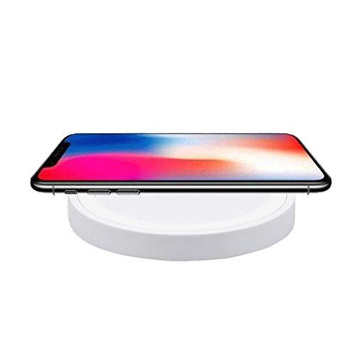 MChoice For iPhone 8/8 Plus/X, New Portable Qi Wireless Power Fast Charger Charging Pad For iPhone 8/8 Plus/X (White)