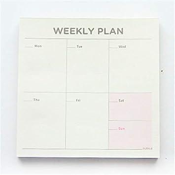 ofvsdhftgj - Agenda semanal de cuaderno de papel, cuadrada ...