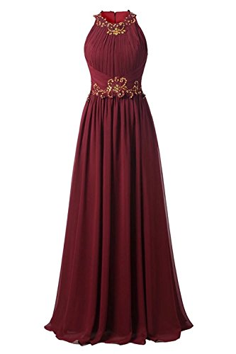 DINGZAN Woman's Floor Length Mother of the Bride Party Dresses Chiffon Vintage