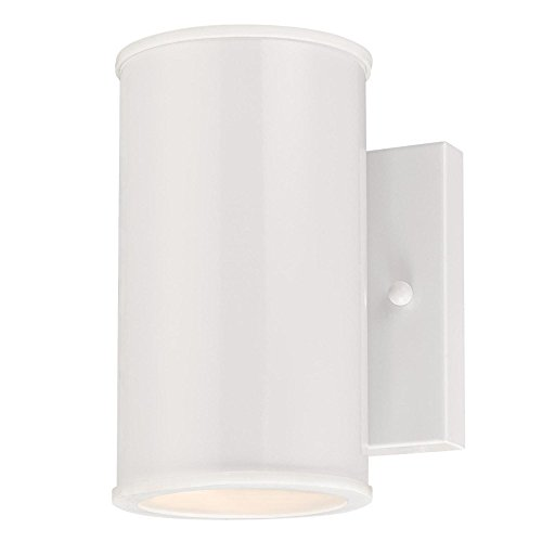 (Westinghouse Lighting 6361300 Mayslick One-Light LED, White Finish with Frosted Glass Lens OUTDOOR WALL Fixture,)