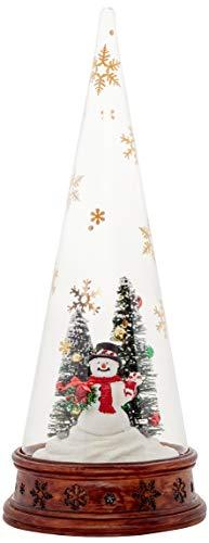 Lenox Merry & Magic Lit Glass Snowman Scene