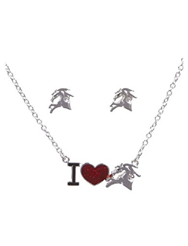 Justice For Girls I Heart Horses Earrings & Necklace - Earrings Justice
