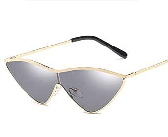 Glass sunglasses wholesale Europe and the United States fashion marine film sunglasses conjoined triangle frame unisex glasses