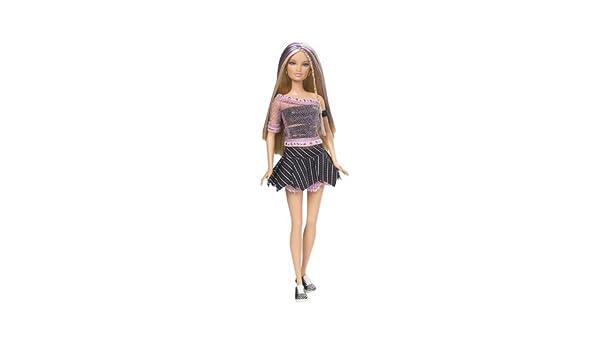 Barbie Fashionistas Doll in Power Print Black /& White Dress Blonde Hair