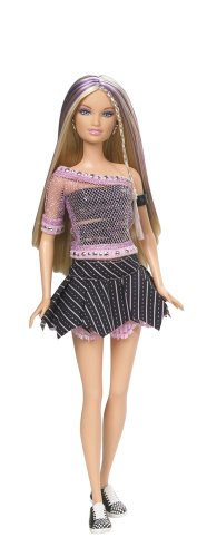 Barbie Fashion Fever Doll Blonde With Purple Streaked Hair by Barbie