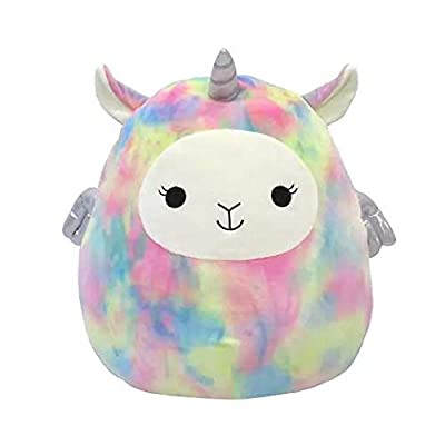 "SQUISHMALLOWS 11"" Rainbow Tie Dyed Llama Lucy-May Plush Pillow Easter 2020: Toys & Games"