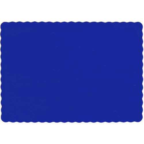 Amscan Bright Royal Blue Paper Placemats, 50 Ct. | Party Tableware