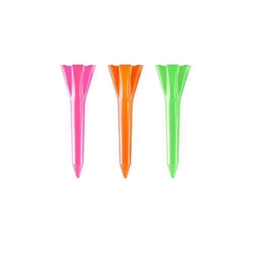 Plastic Golf Tees, Neon Mix, 1.5