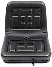 Tractorstoel, zwart, universele vorkheftruck, trekkerstoel met verstelbare glijrails, tuingrasmaaier, achterbank voor graafmachines, vorkheftrucks, tractor, compacte lader, graafmachine, telescopische lader