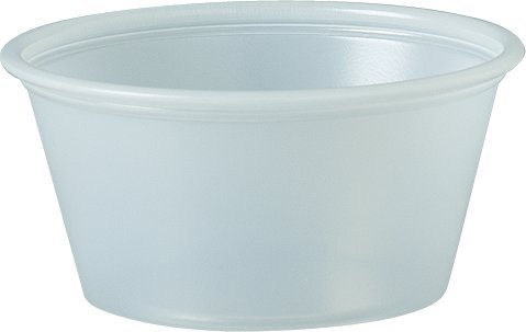 Sold Individually Solo Plastic 2. 0 oz Clear Portion Container for Food, Beverages, Crafts (Pack of 250)