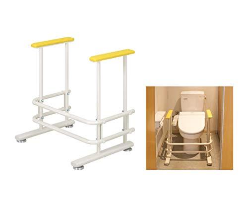 高田ベッド トイレ補助手すり 幅60(内寸49)×奥行46×高さ64cm クリーム   B07PWKZWQ8