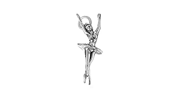 Ballerina Charm Sterling Silver 26.5mm Silver Ballerina Charms Ballet Dancer SP137 925 Sterling Silver Charms Ballerina Charms Dancer Charm 925 Sterling Silver Ballerina Charms