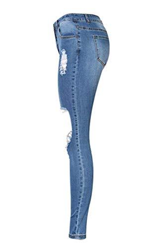 Chern 46 Slim Skinny Look Con Gr Blau Jeans Glamorous Semplice Five Donna 34 Blue Elasticizzato Usato Fori wffZHXTq
