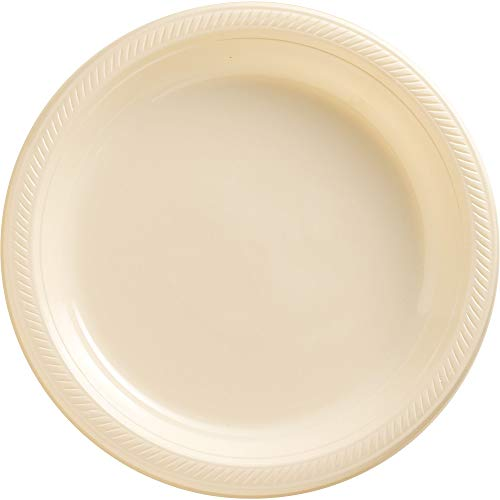 Big Party Pack Vanilla Crème  Plastic Plates   10.25