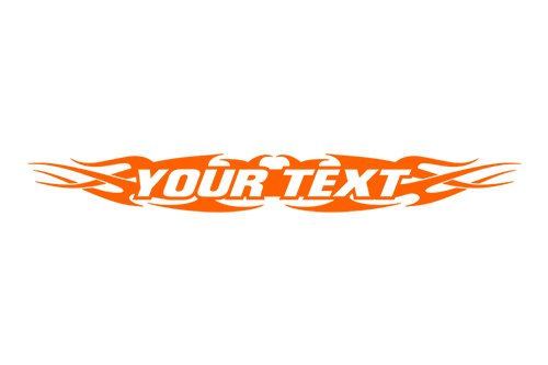 Sticky Creations - Design #148 Your Custom Text Personalized Customized Lettering Tribal Flame Windshield Decal Sticker Vinyl Graphic Rear Back Window Car Truck SUV   36