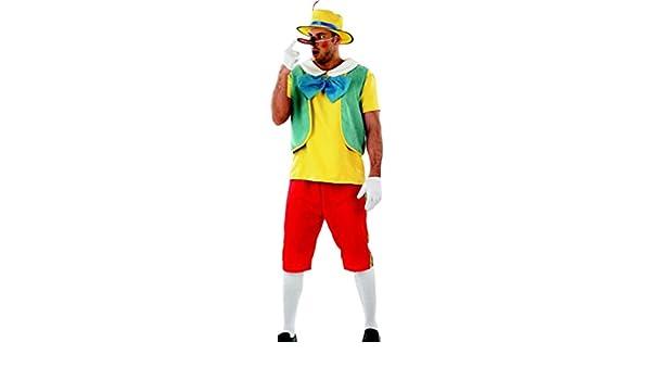 erdbeerclown - Hombre Carnaval Completo Disfraz cuento Pinocchio ...