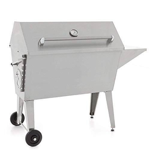 - Cajun Grill Super 36-Inch Stainless Steel Charcoal Grill - PGI-100SS