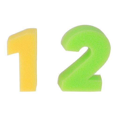 Tcplyn Premium Quality 10PCS Number Sponges Sponge Painting Shapes Stamps Kids Childrens DIY Art and Craft by Tcplyn (Image #1)