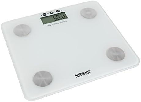 Duronic BS301 Báscula de Baño Digital de Alta Precisión Análisis de Masa Corporal Índice de Grasa, Porcentaje de Masa Muscular, Porcentaje de ...