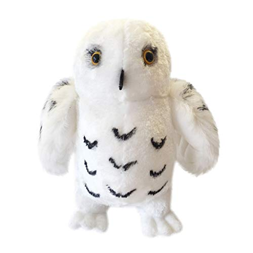 MSOO Kawaii Plush Snowy Cuddly Owl Collectible Dolls Parent-Child Interactive Prop Kids (20cm/8 in) -