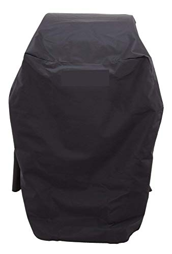 KOLIFE K LIFE Heavy Duty 32 Inch BBQ Gas Small Grill Cover for Char-Broil 2 Burners, All-Weather Protection Barbecue Cover with Straps, Black (32W x 26D x 42H inches)