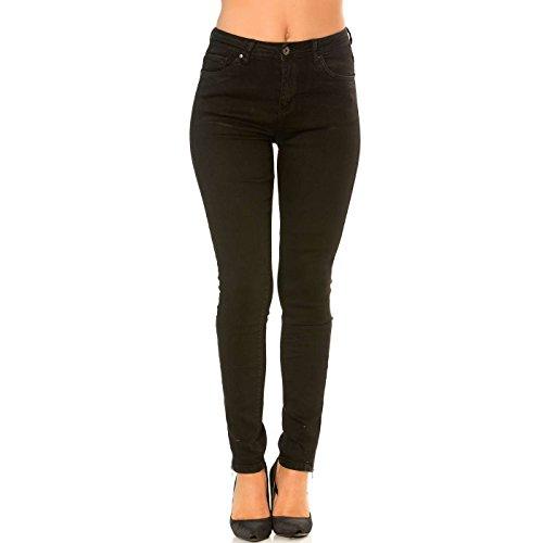 Pantalon Miss Fermeture Jeans Chevilles Slim Noir aux avec Wear Line TTSxnwF6
