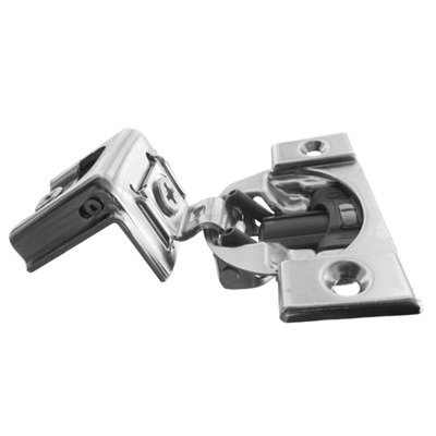 Blum, Compact Blumotion 38C (Round Cup) Hinge & Plate, For 1-1/4'' Overlay, Wraparound, Screw-On, 50-Pack