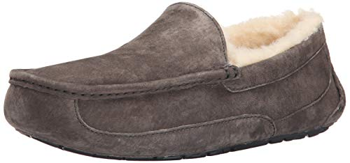 UGG Men's Ascot Slipper, Charcoal, 16 M US