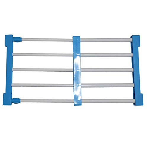 MOPOLIS Stainless Steel Shelf Rack Partition Board for Bathroom Kitchen Living Room | Color - Sky Blue 50-80cm