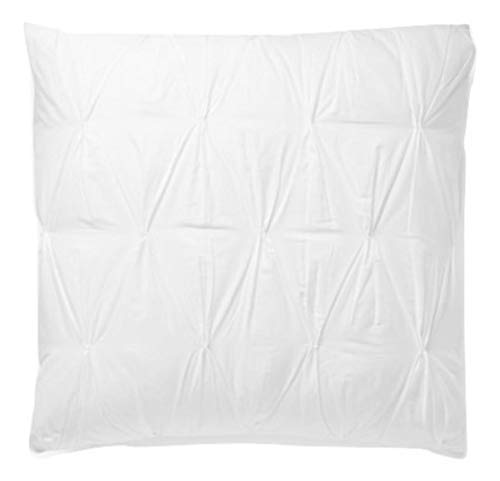(SplendidHome Set of 2 Pinch Pleat Pintuck Decorative Pillow Covers/Cases/Shams Cotton Sateen Euro 26 inch x 26 inch, White)