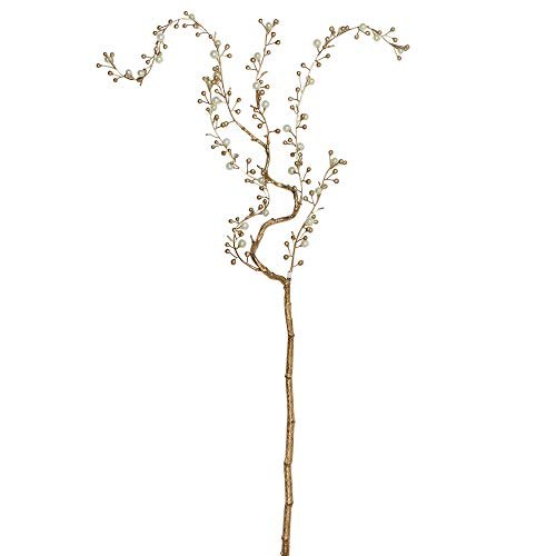 Northlight NL00206 Pearl and Willow Artificial Branch Spray, -