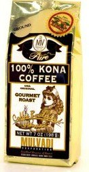 Hawaiian Gift Basket Mulvadi Coffee Ground 100% Pure Kona Medium 4 Bags