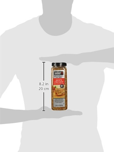Weber Kick'n Chicken Seasoning 22 Oz. Made with Sea Salt - No MSG - Gluten Free - Perfect for Grilling by Weber (Image #3)