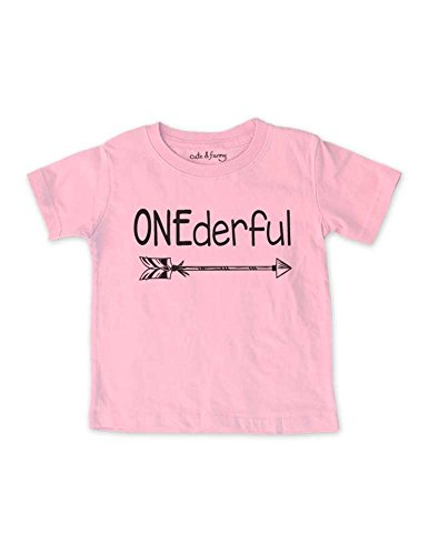 Price comparison product image ONEderful - cute & funny boho 1st First Birthday Infant Shirt (18 Months Infant Shirt,  Pink)