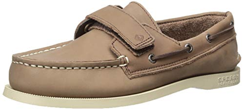 SPERRY Boys' A/O HL Brown Boat Shoe, 1.5 M US Little Kid (Austin Youth Bed)
