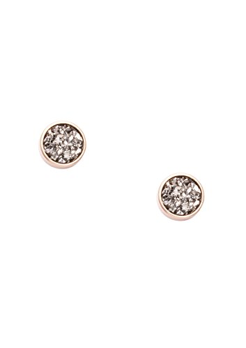 [Happiness Boutique Women Druzy Earrings Rose Gold | Round Earrings Delicate Ear Studs] (Unique Costume Ideas For Teenage Girls)