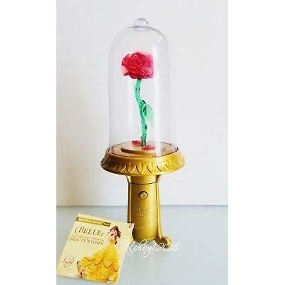 DP Disney Parks Beauty and The Beast Belle Enchanted Rose Light Up Musical Spinner: Toys & Games