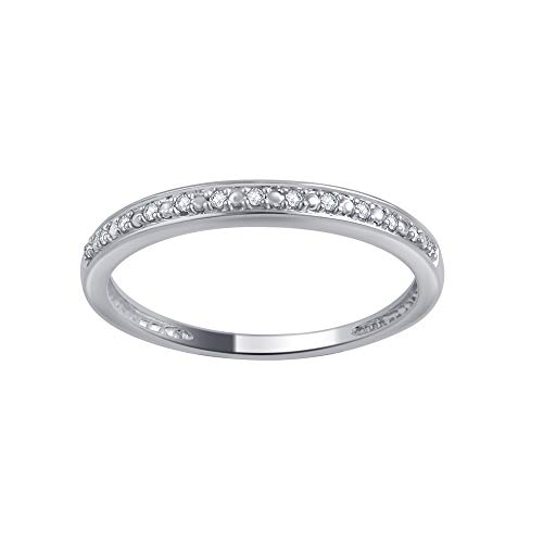 0.05 Carat Round Diamond Wedding Band & Stackable Set in 10K Gold (Round Wedding Band Diamond)