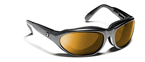 7 Eye Diablo Panoptx Cyclone Foam Sunglasses, Charcoal Lens, Sharp View Copper