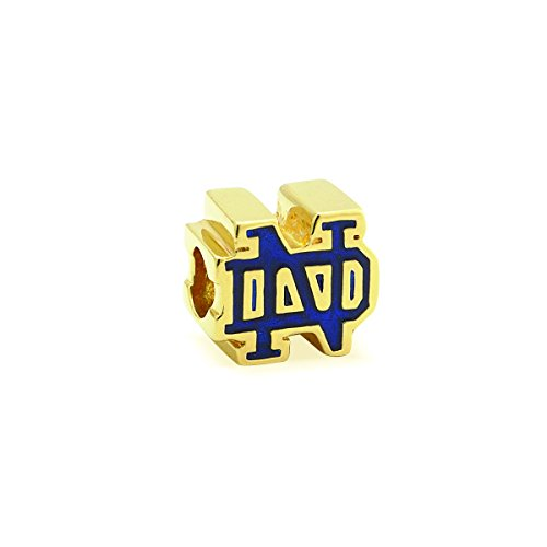 - Gifts for Irish Graduates Notre Dame Blue and Gold Charm for Bracelet Gold Plated Sterling Silver Irish Made
