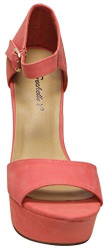 chunky Bonnie dorsay Breckelles womens ankle sandals platform heel 36 Grape strap OA4qw60