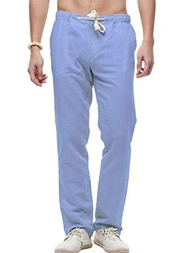 Color Con Deportivos Al De Deportivo Rectos Libre Blau Los Sólido Pantalón Hombres Aire Bolsillos Vendaje Pantalones Y6zwtY